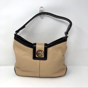 Kate spade beige and black leather shoulder bag